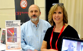 Larry Baile of the ICAC and Gloria Ryan of IAAI at FDIC.